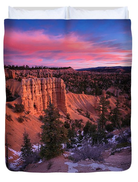 Duvet Cover featuring the photograph Fairyland Loop Trail by Edgars Erglis