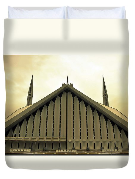 Faisal Mosque Duvet Cover