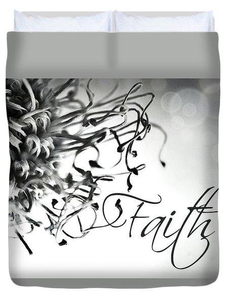 Faith Duvet Cover by Bobby Villapando