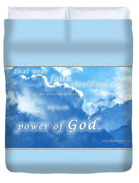 Faith In God's Power Duvet Cover