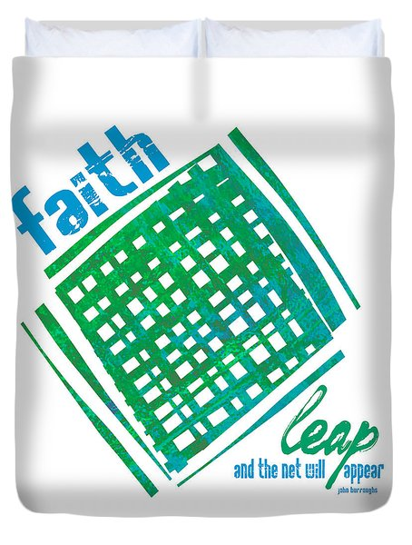 Duvet Cover featuring the painting Faith by Lisa Weedn