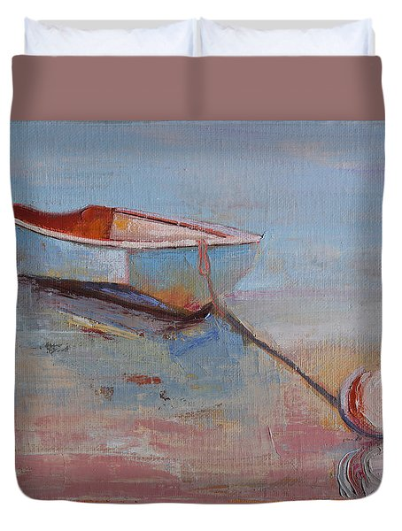 Faithful Dinghy Duvet Cover