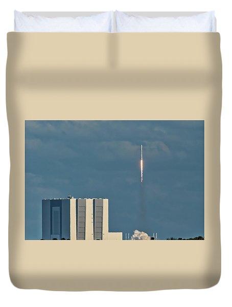 Falcon 9 Launch Duvet Cover