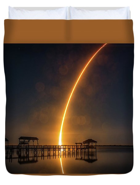 Falcon 9  Night Launch Duvet Cover