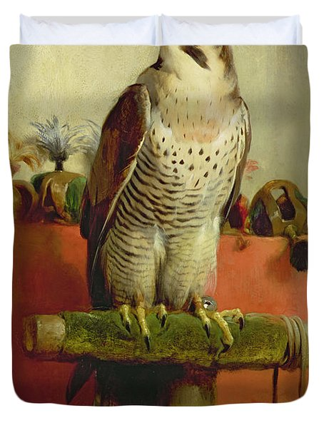 Falcon Duvet Cover by Sir Edwin Landseer