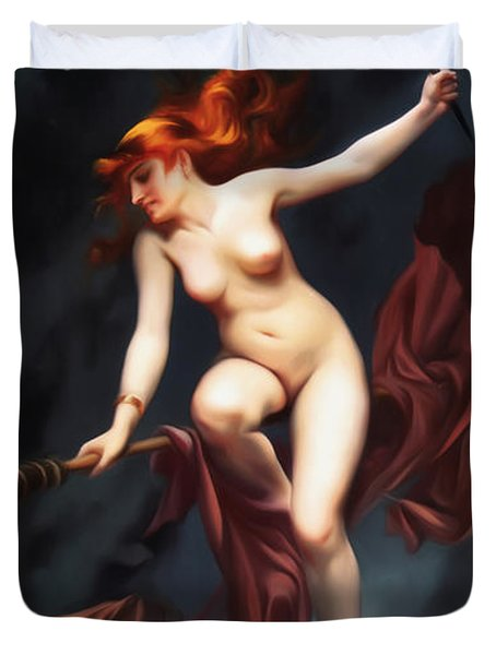 Falero Luis Ricardo The Witches Sabbath Duvet Cover