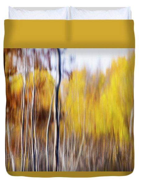 Duvet Cover featuring the photograph Fall Abstract by Mircea Costina Photography