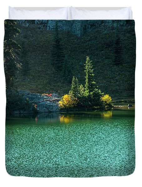Fall Afternoon On Sheep Lake Duvet Cover