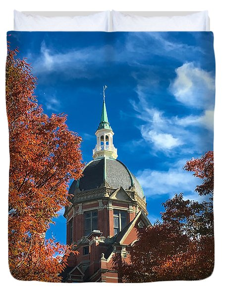 Fall And The Dome Duvet Cover