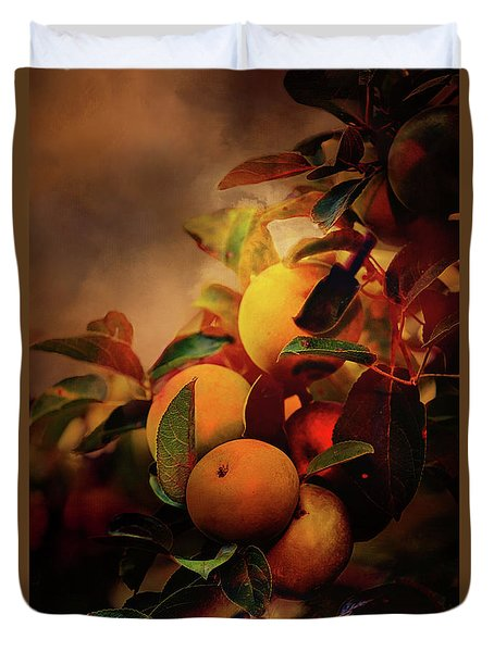 Fall Apples A Living Still Life Duvet Cover