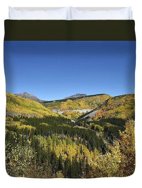 Fall Aspens In San Juan County In Colorado Duvet Cover