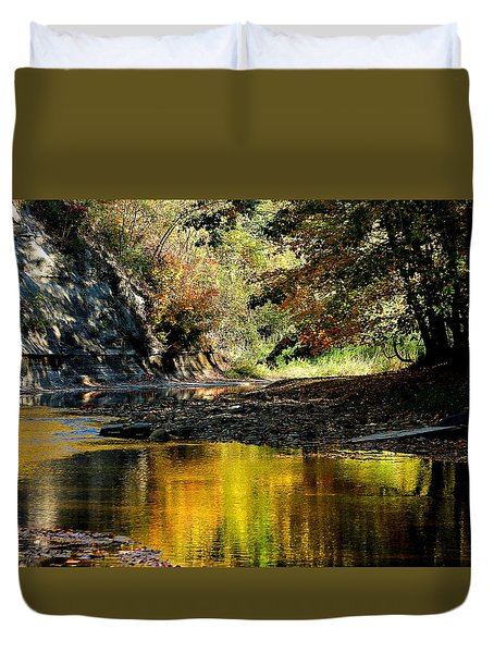 Duvet Cover featuring the photograph Fall At Big Creek by Bruce Patrick Smith