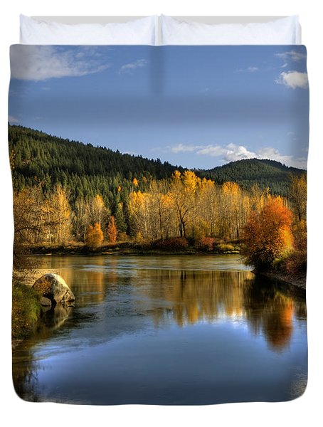 Fall At Blackbird Island Duvet Cover