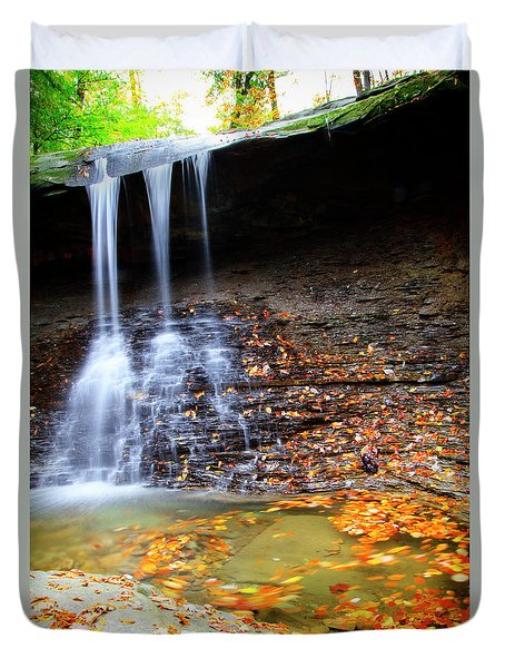 Fall At Blue Hen Falls Duvet Cover