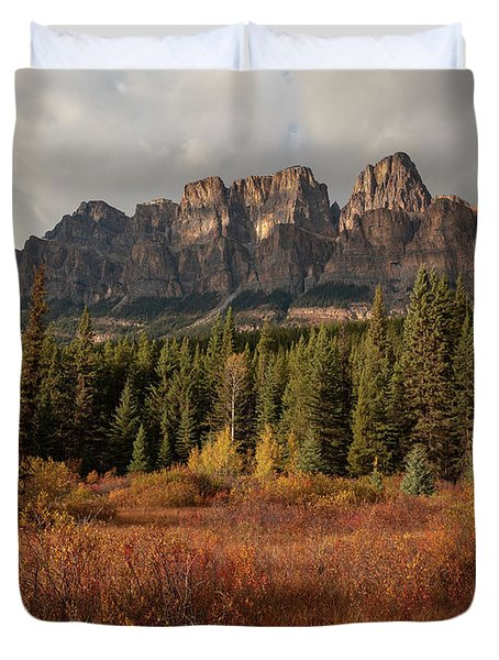 Fall At Castle Mountain Duvet Cover