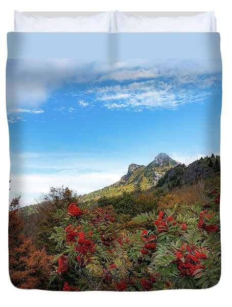 Fall At Grandfather Mountain Duvet Cover