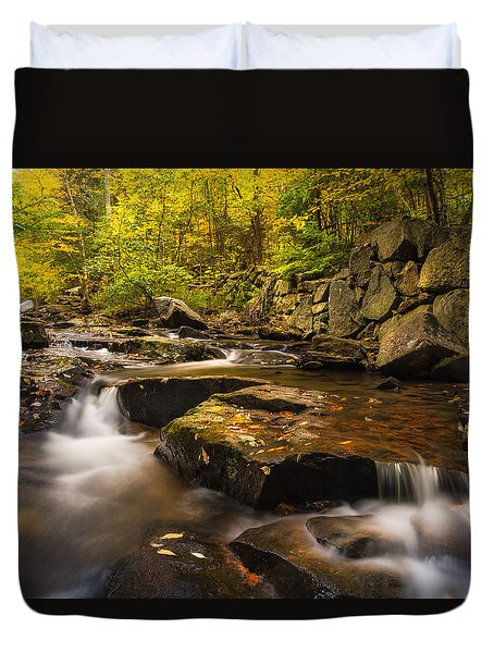 Fall At Gunstock Brook Duvet Cover