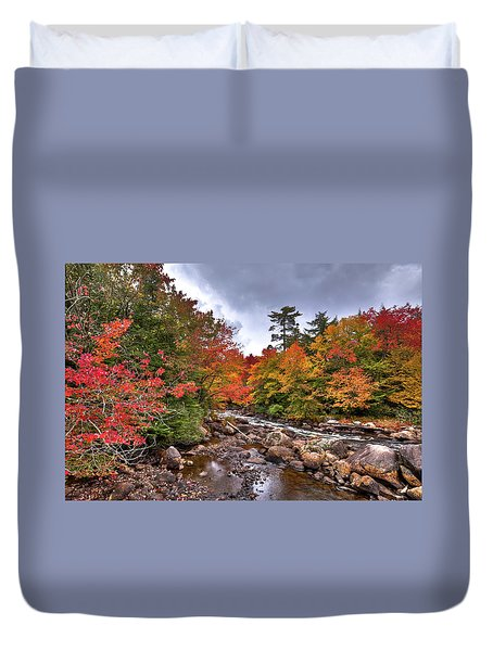 Duvet Cover featuring the photograph Fall At Indian Rapids by David Patterson