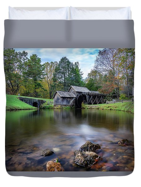 Fall At Mabry Mill Duvet Cover