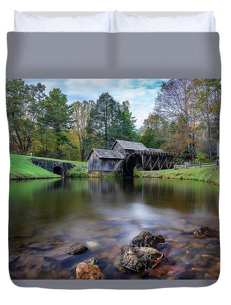 Fall At Mabry Mill Duvet Cover