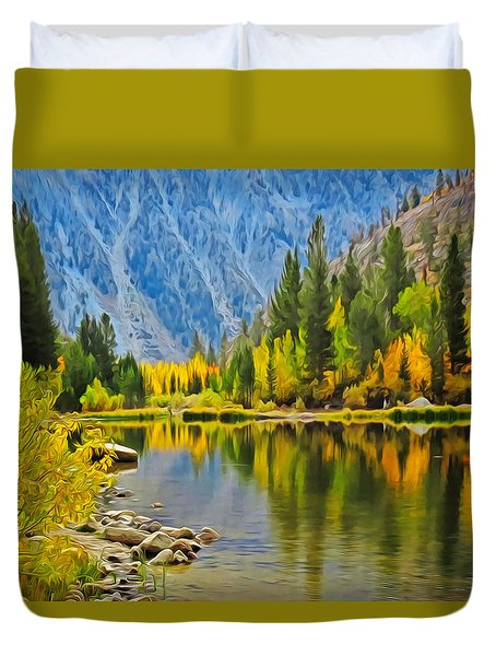 Fall At North Lake Duvet Cover