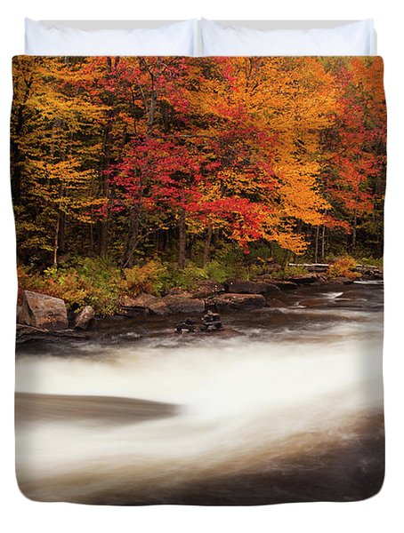 Fall At Oxtongue Rapids Duvet Cover