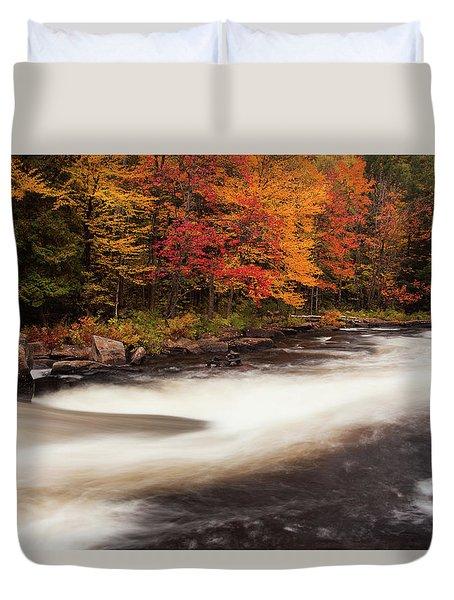 Fall At Oxtongue Rapids Duvet Cover