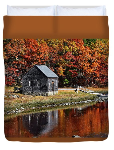 Fall At Rye Duvet Cover by Tricia Marchlik