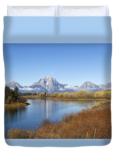 Duvet Cover featuring the photograph Fall At Teton -2 by Shirley Mitchell