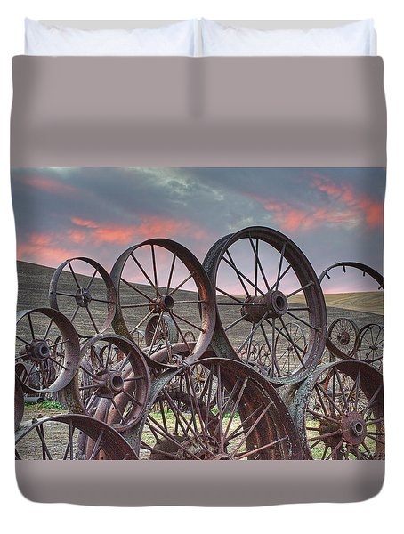Fall At The Dahman Barn II Duvet Cover