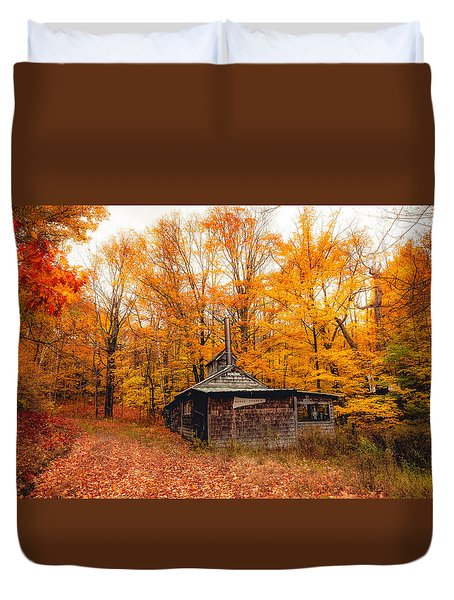 Fall At The Sugar House Duvet Cover