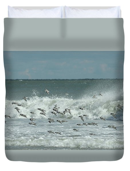 Fall At The Shore Duvet Cover