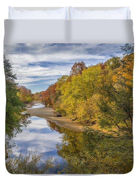 Fall At Turkey Run State Park Duvet Cover