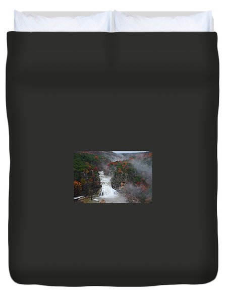 Fall At Turner Falls Duvet Cover
