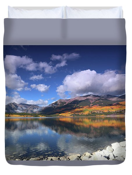 Fall At Twin Lakes Duvet Cover