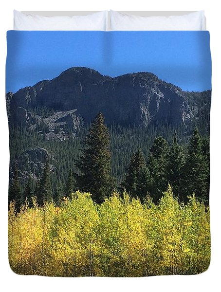 Fall At Twin Sisters Duvet Cover