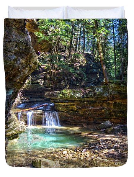 Fall Below Old Mans Cave Duvet Cover
