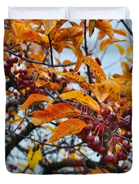 Fall Berries Duvet Cover