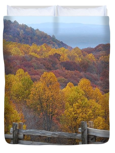 Duvet Cover featuring the photograph Fall Blend by Eric Liller