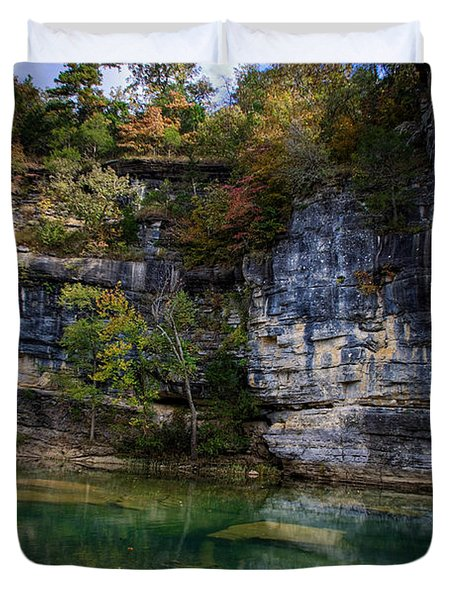 Fall Bluff At Ozark Campground Duvet Cover by Michael Dougherty