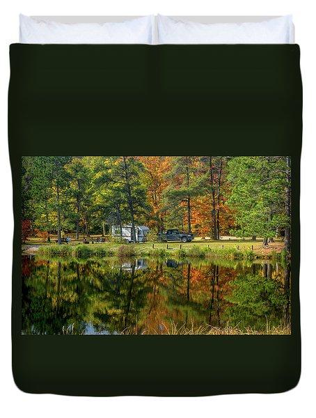 Fall Camping Duvet Cover