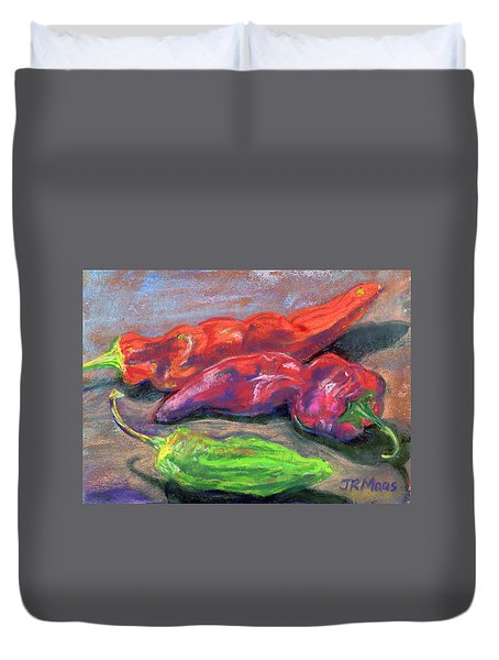 Fall Chiles Duvet Cover