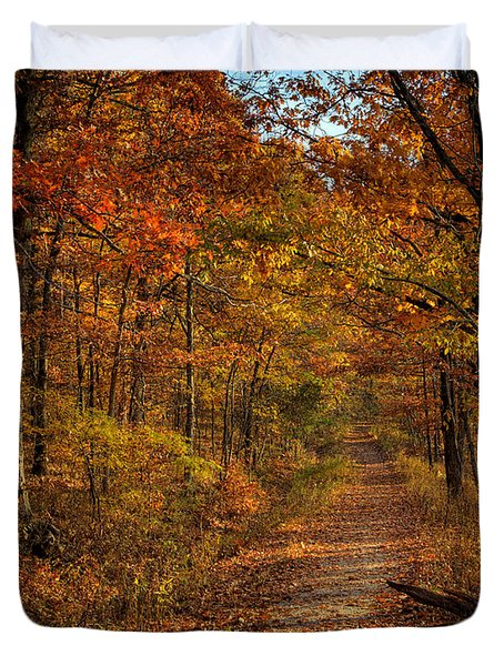 Duvet Cover featuring the photograph Fall Color At Centerpoint Trailhead by Michael Dougherty