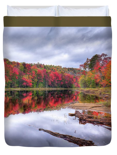 Duvet Cover featuring the photograph Fall Color At The Pond by David Patterson