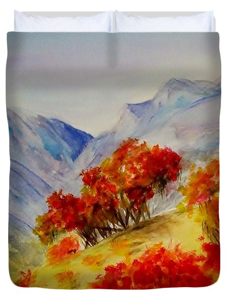 Fall Color Duvet Cover by Jamie Frier