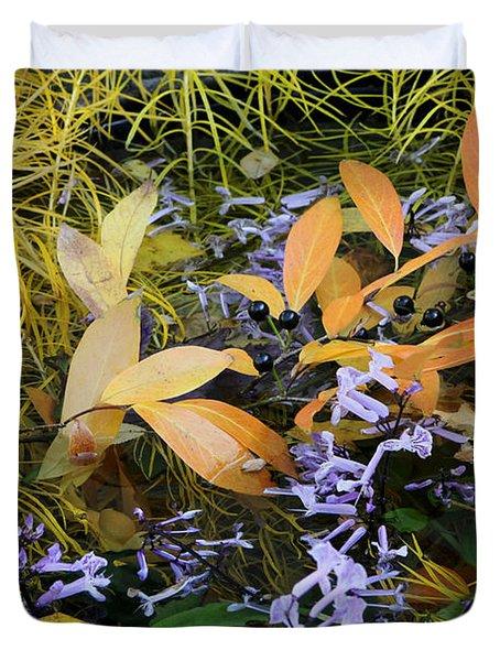 Duvet Cover featuring the photograph Fall Color Soup by Deborah  Crew-Johnson