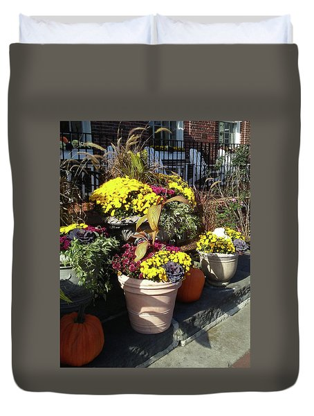 Duvet Cover featuring the photograph Fall Colorful Gifts  by Irina Sztukowski
