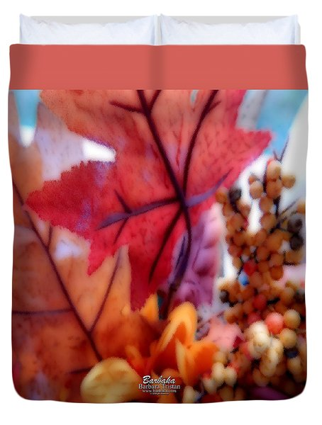 Fall Colors # 6059 Duvet Cover by Barbara Tristan