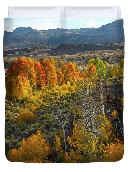 Fall Colors At Aspen Canyon Duvet Cover