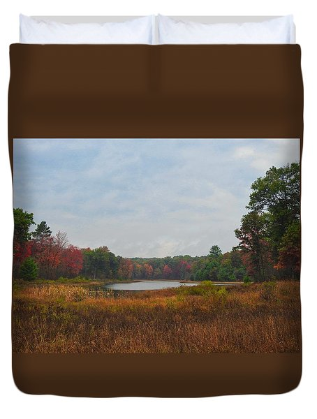 Fall Colors At Gladwin 4459 Duvet Cover